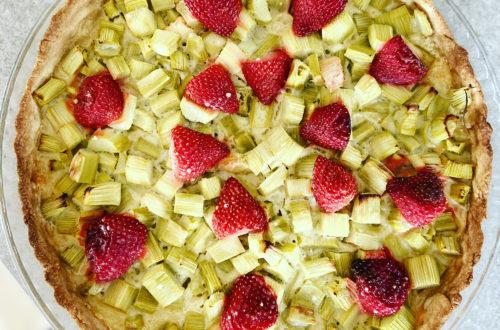 tarte à la rhubarbe vegan