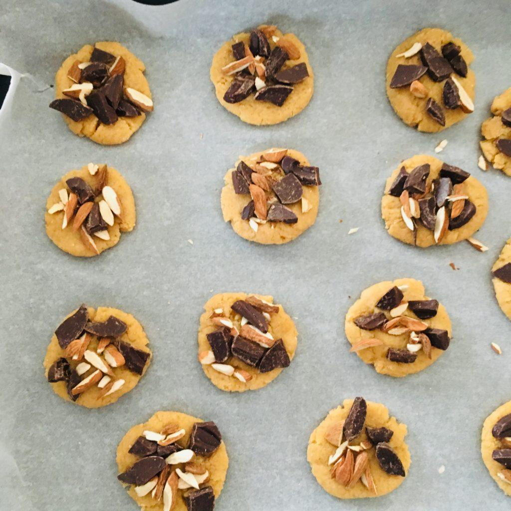 plaque de cookies sans oeufs