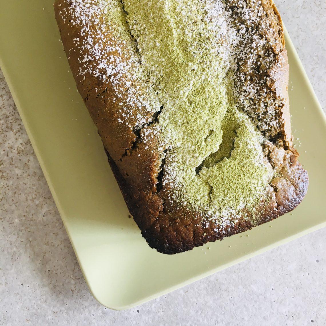 cake végétalien thé vert